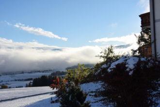 abziehende Schneewolken