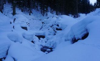 tief winterlicher Leisnitzgraben