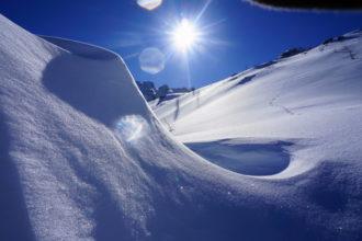 glitzernde Schneeberge