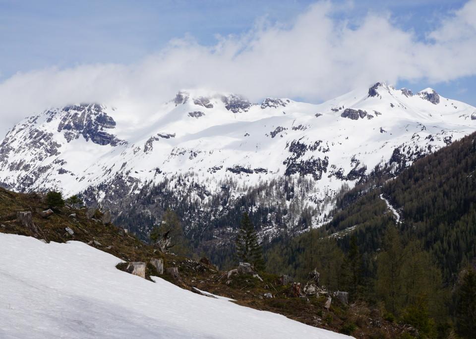 18. Mai, Blick zur Kesselspitze - Obetauern